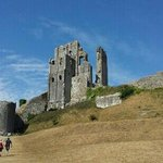 corfe castle is like something out of a fairy tale