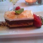 "Dark Chocolate ""Fluffernutter"" Layer Cake"