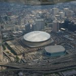 New Orleans Superdome as seen from the air!