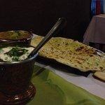 palak paneer and goa fish curry