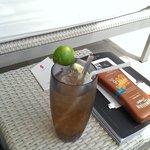 Drink at pool side