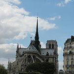 Notre Dame from the other side of the river Seine.