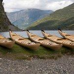 Kayaks ready to go in Flåm