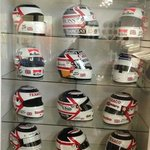 Part of the collection of Helmets as worn by Nigel