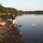 Evening paddle down Loch Ken