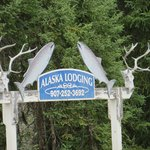 Alaska Lodging sign great for fishing and hunting