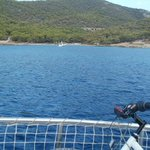 from the boat leaving Aponisos