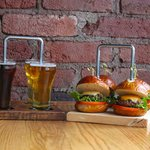 Beer tasters and delicious food