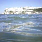 vista di Peschici dal mare