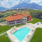 Panoramic view with swimming pool & kids play area