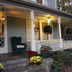 Front porch in the fall