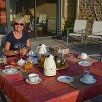 Le petit déjeûner en terrasse