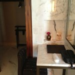 Make up table with lighted mirror