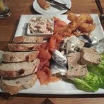 The excellent seafood platter. A real mix of flavours and textures.