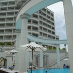 View of part of the hotel from the pool area