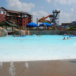 Pool and water slide view
