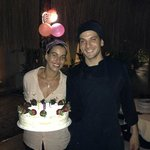 Augustina and Sebastian and their wonderful dessert