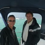 My husband and Skipper Victor - lovely chaps!