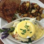 Crab benedict for breakfast - outstanding