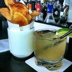 Jalapeno Margarita & fresh-made chips