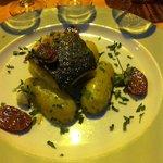 Cabillaud avec chorizo grillé