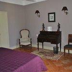 Bedroom in the top floor suite