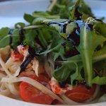 Fantastic crayfish tails and pasta