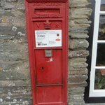 the Victorian Post Box (you see the V R ... that tells you it was from her reign)