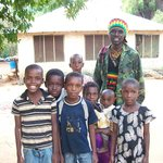 Jordan with some of the local children near the lodge