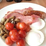 full English with mushrooms and tomato