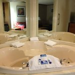 the in-room hot tub