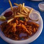 Clam strip plate, extra tartar sauce