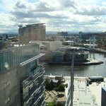 View of Salford Quay and the lowry