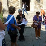 In Castellina discussing our group menu