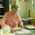 Mary Baking biscuits from scratch
