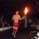 man doing fire patan