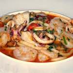 Seafood pasta luncheon special (excellent)