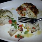 golden tilefish and crabcake