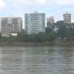 View of Fairthorpe Apartments from across the river