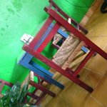 restaurant table and chairs are handmade in Mexico