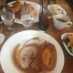 Roast pork and veg.