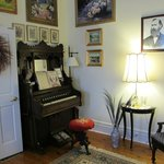 Opposite side of Parlor with picture of EJ Bowman
