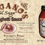 Spaghetti sauce label for jar