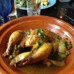 Game Hen Tangine w/ Artichoke & Peas