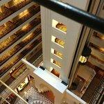 Elevator and floors.