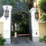 L'ingresso della proprietà