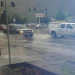 Now this is RAIN in Glenwood outside the Diner.