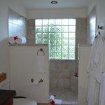 casita bath at check-in