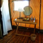 Bathroom in our tent
