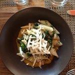 Gluten free Rigatoni , broccoli rabe, butternut squash and ricotta salata